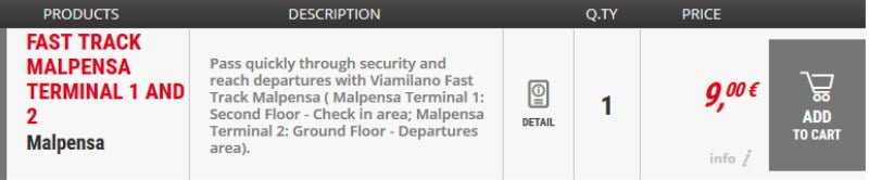 Malpensa MXP Airport