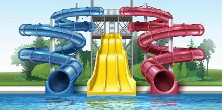 water-park-outdoor-colored-plastic-water-slides-with-pool